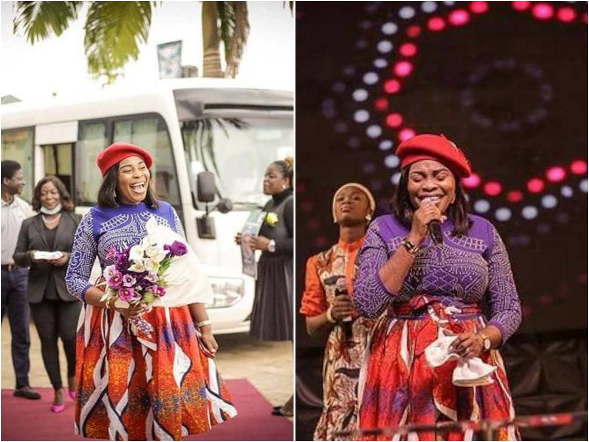 [PHOTOS] Evangelist Tope Alabi storms Ibadan in Praise-Style