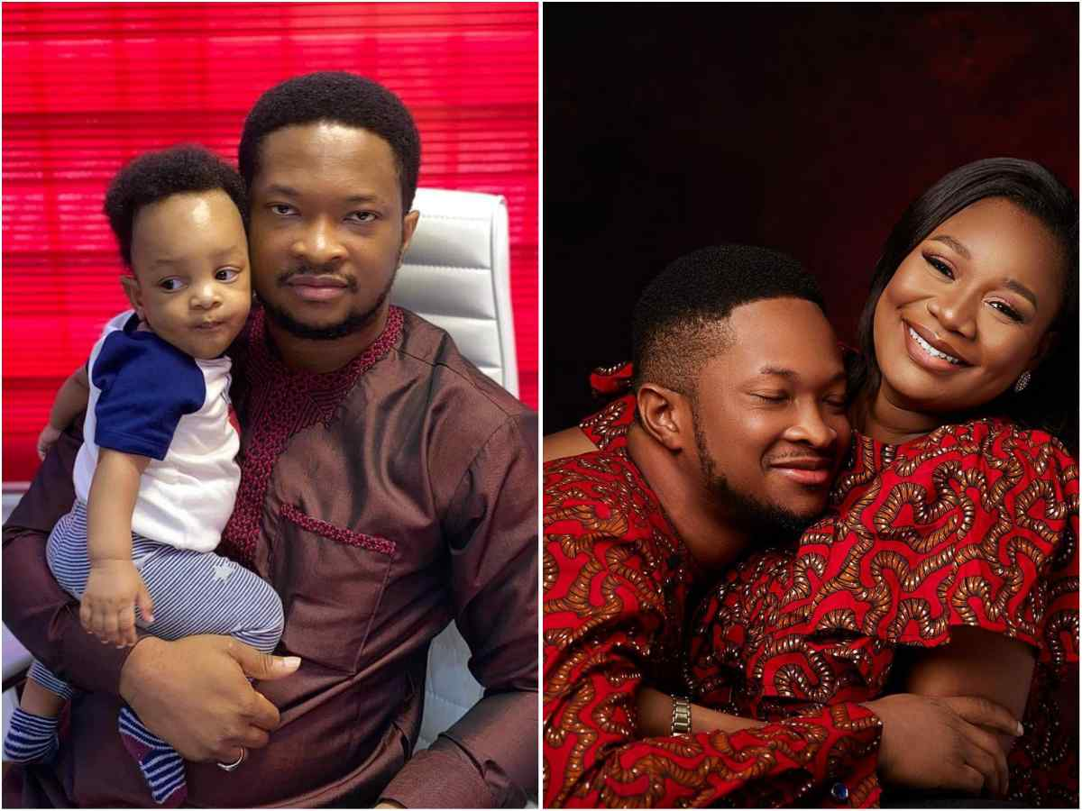 Meet Godswill Oyor, Lawrence Twin Brother And His Beautiful Wife And Kid