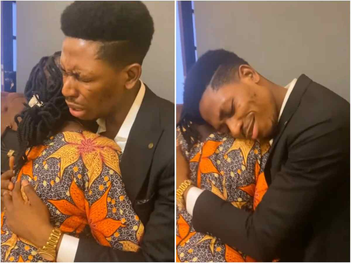 VIDEO: Moses Bliss Mother Showers Heavenly Blessings On Him In A Special Moment Together