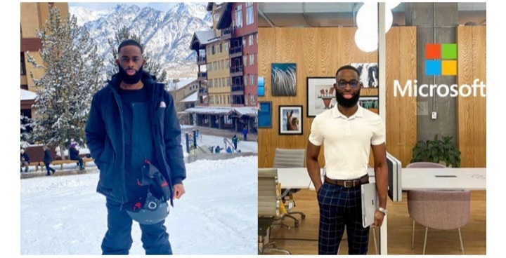 """""""If you knew how far Christ has brought me"""" – Young Nigerian man celebrates as he lands a job at global tech giant, Microsoft"""