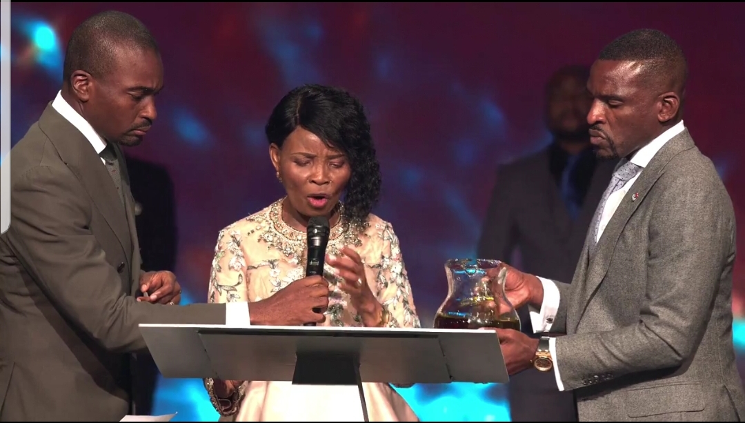 What Pastor Faith Oyedepo told her Second Son, Isaac Oyedepo During The Dedication of Their Ultra-modern Church In America